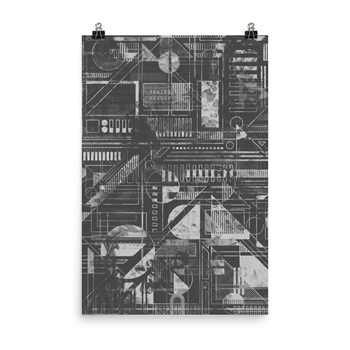 Organic Energy (Greyscale) Poster