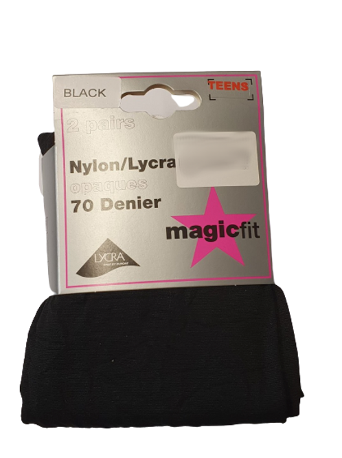 Twin Pack Opaque Tights 70 Denier
