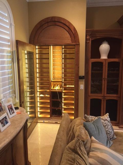 Custom built wine cellar