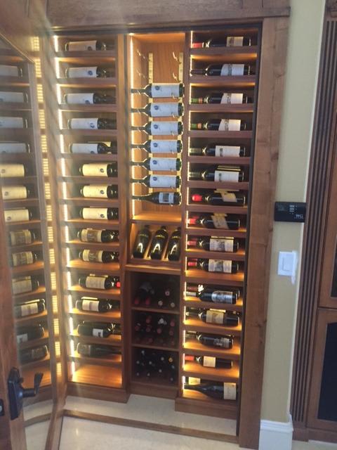 Label forward custom wine cellar