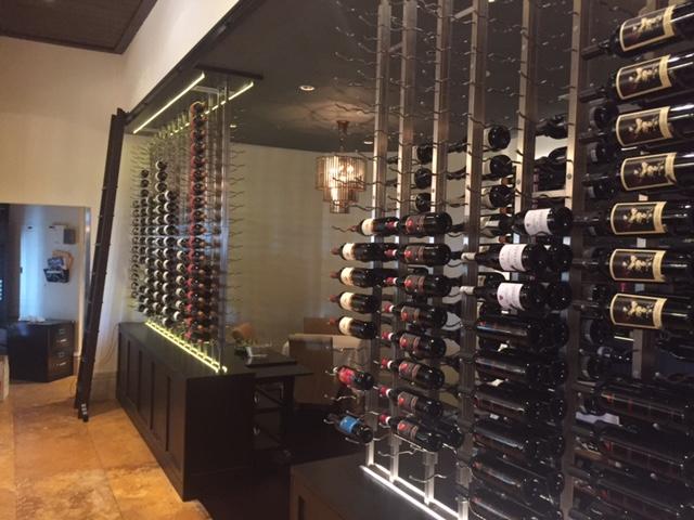 Custom designed wine cellar