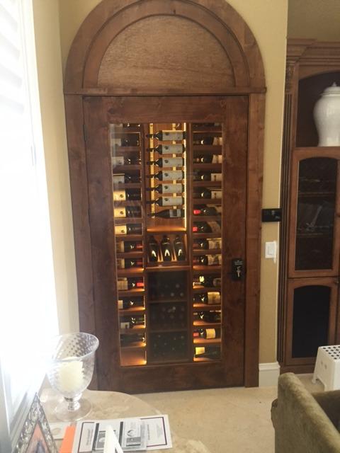 Label forward wine cellar