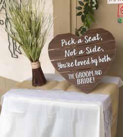 Welcome Sign at Wedding Reception