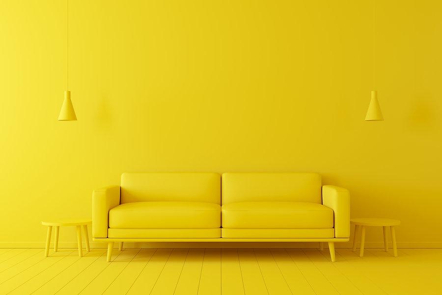 Minimal concept. interior of living yell