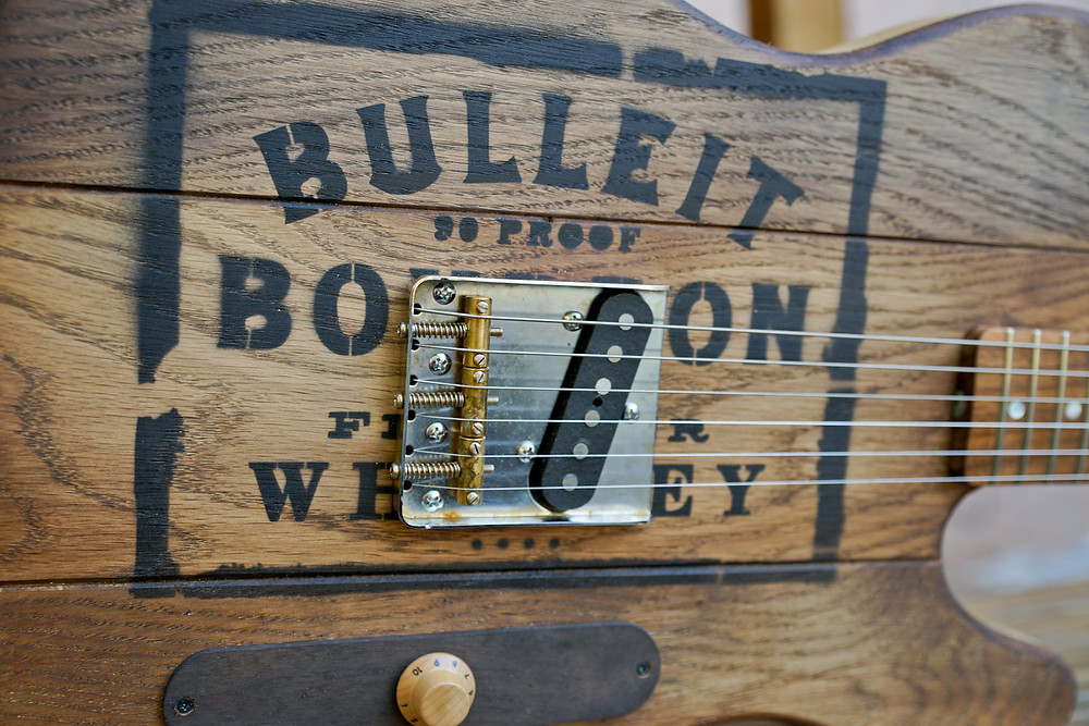 oak whiskey barrel guitar
