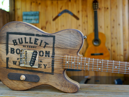 Whiskey Barrel Top Guitar