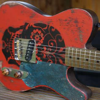 Day of the Dead Custom Guitar Tele Telecaster
