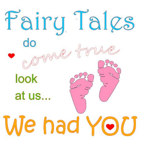 Fairy tales with baby feet
