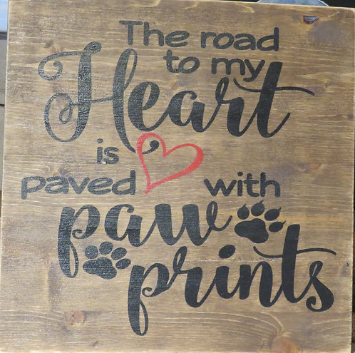 The Road to my Heart-paw prints