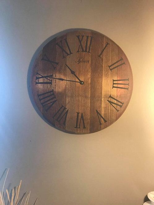 Wine Barrel Lid Clocks
