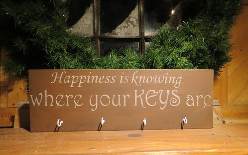 happiness is know where your keys