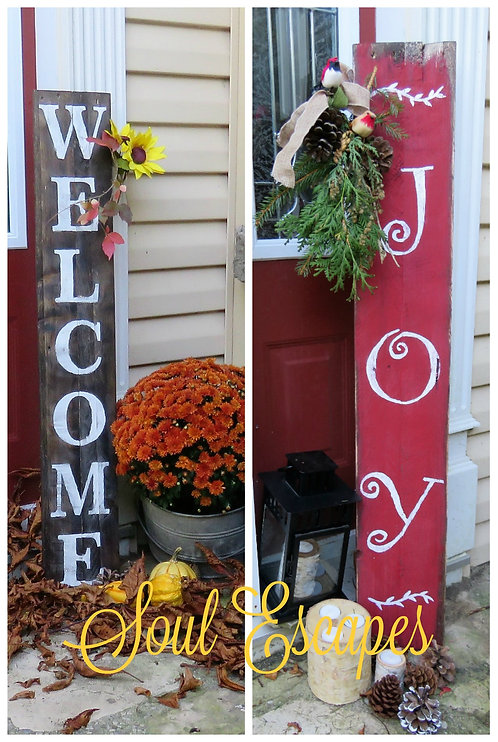 welcome joy 2 sided porchsitter