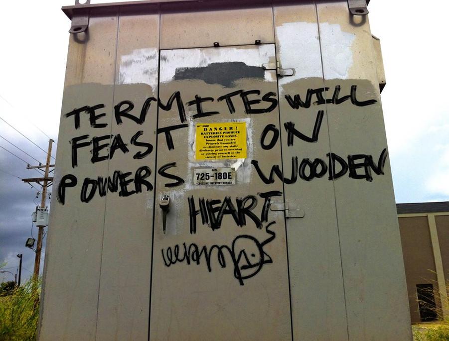 TERMITES WILL FEAST. Photo by Xanadu Xero
