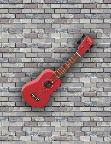 VINTAGE UKULELE - SATIN RED