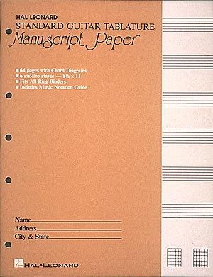 Guitar Tablature Manuscript Pad
