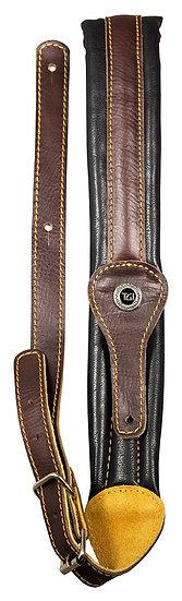 TGI Strap Leather Padded Narrow Brown/Black