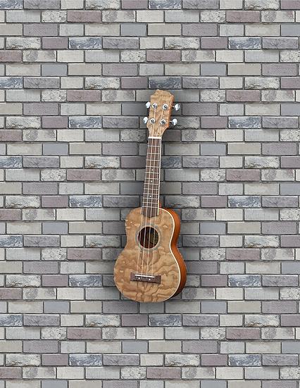 Adam Black Exotic Wood Series Soprano Ukulele - Quilted Ash