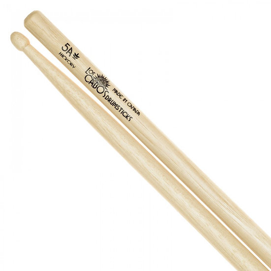 LOS CABOS 5A HICKORY DRUMSTICK ~ WOOD TIP