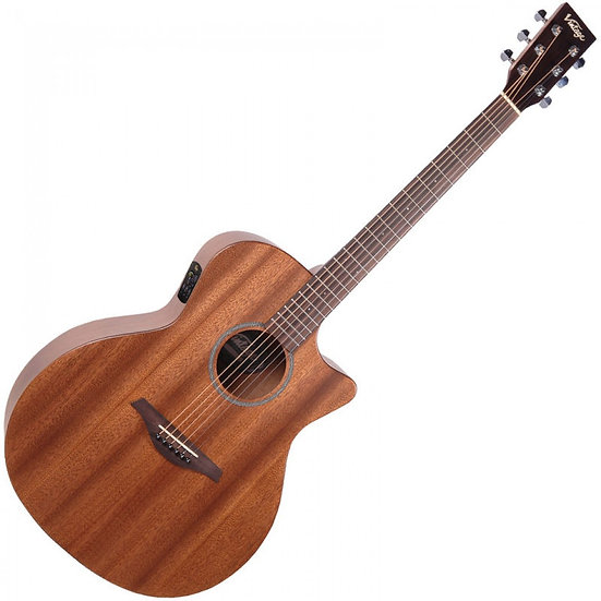 Vintage VE990 Electro-Acoustic - Mahogany