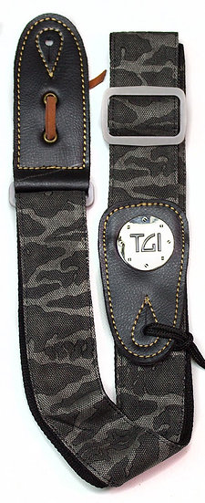 TGI Strap Woven Black Camo Grey Buckle