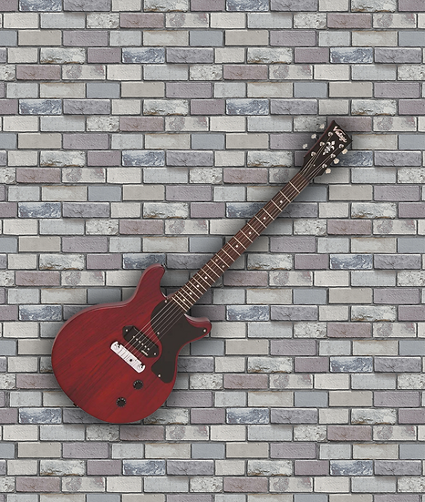 VINTAGE VR130 ELECTRIC GUITAR- DOUBLE CUT - SATIN CHERRY