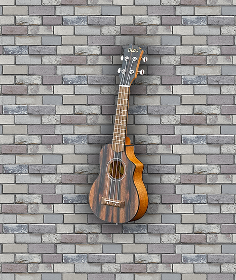 Adam Black Exotic Wood Series Soprano CE Ukulele - Striped Ebony