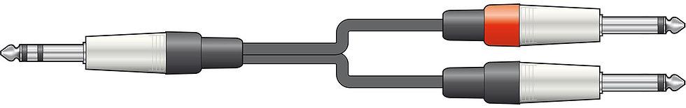 Chord 3m 3.5mm TRS - 2x6.35mm Jack
