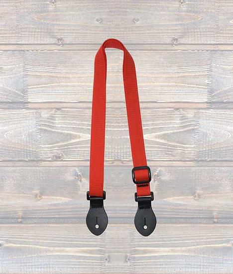 Leathergraft Ukulele Webbing Strap – Red