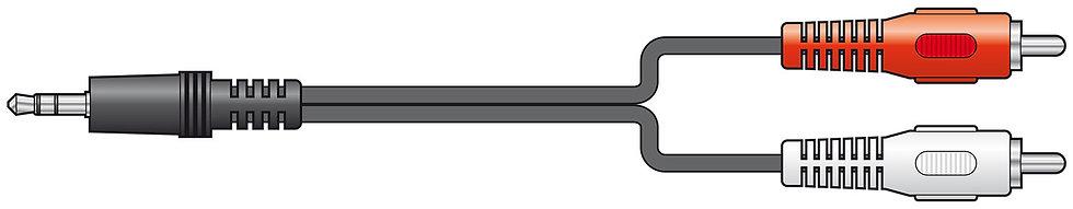 AV: Link 3.5mm plug - 2x RCA Sockets