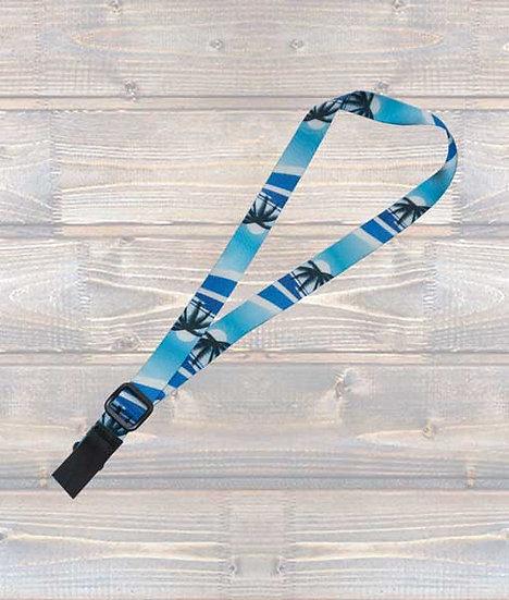 Leathergraft Ukulele Webbing Strap – Blue Palm