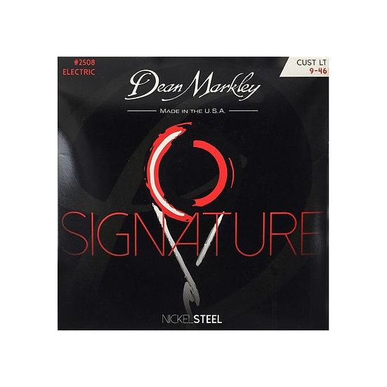 DEAN MARKLEY CUSTOM LIGHT 9-46 NICKELSTEEL ELECTRIC SIGNATURE SERIES STRING SET
