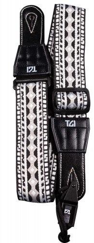 TGI Strap Woven Cotton Aztec Stitch - Black & White