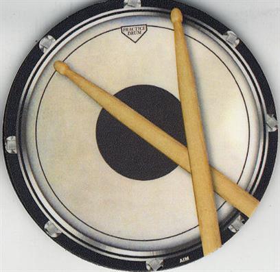 Drinks' Coaster (Circular Drum Practice Pad)