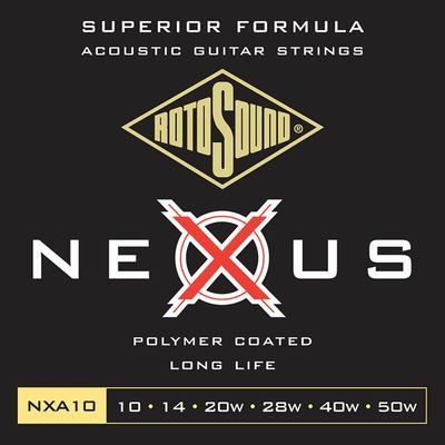 Rotosound Nexus Coated Acoustic Strings - 10's