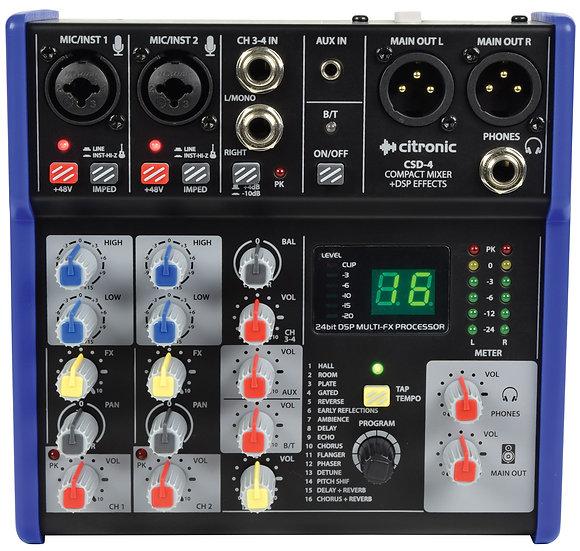 Citronic CSD-4 Compact Mixing Console