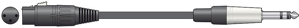 Chord Microphone Lead XLRF - Jack - 6m