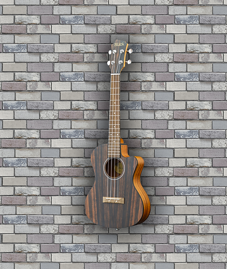 Adam Black Exotic Wood Series Tenor CE Ukulele - Striped Ebony