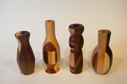 Bud vases | Assorted hardwoods