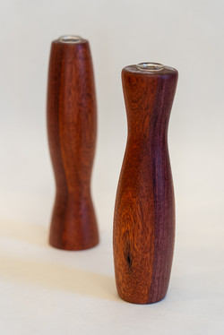 Matching bud vases | Purpleheart and bloodwood
