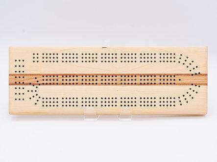 Mahogany, Maple, Oak Cribbage Board
