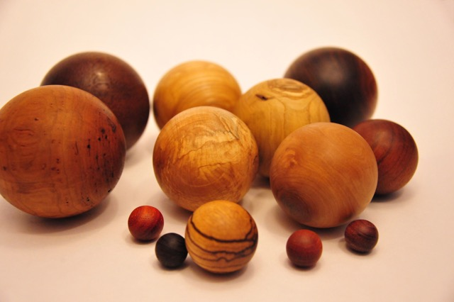 Spheres | Assorted woods