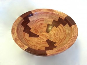Salad bowl | Red oak and mahogany