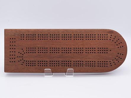Pure Mahogany Cribbage Board