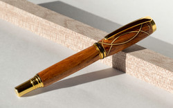 Fountain pen | Teak, maple, and walnut
