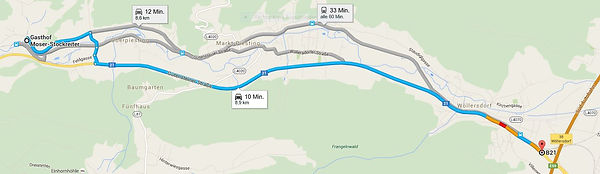 Wegbeschreibug Google Maps Wopfing