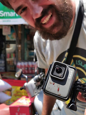 Food Explorer Filming Street Food In Cambodia