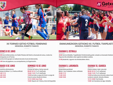 Valencia, Madrid, Athletic, Eibar, Tolosa y Bizkerre se medirán en el XII Torneo Getxo de Fútbol Fem