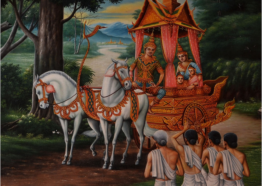 Bhagavad Gita - Arjuna und Krishna