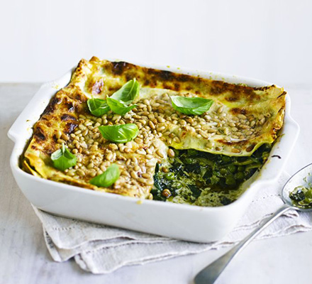 Lasagna with Genoese pesto