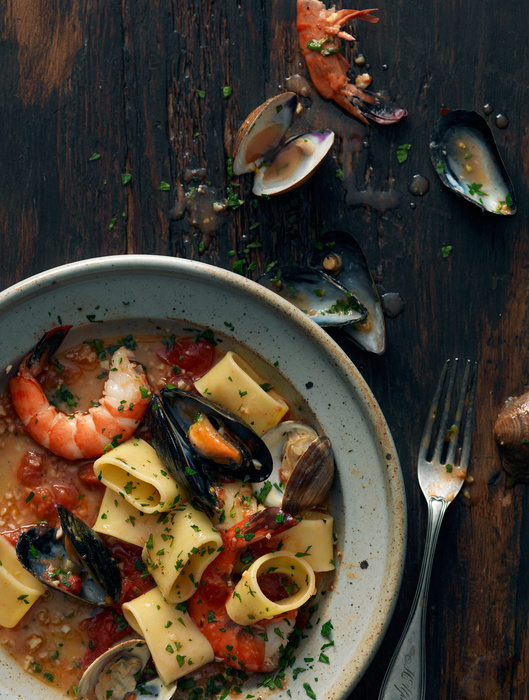 Paccheri with Sea food